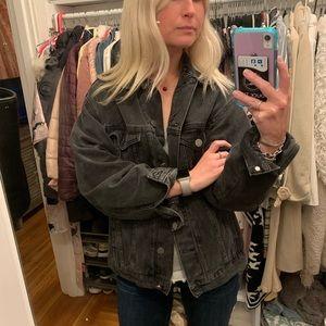ASOS DESIGN denim girlfriend jacket (black)